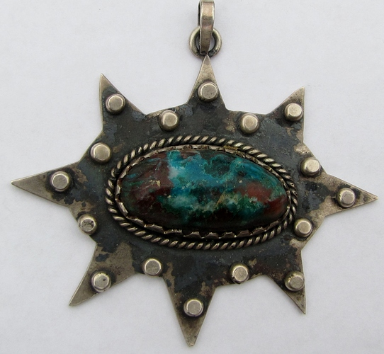 turquoise pendant blue red whole