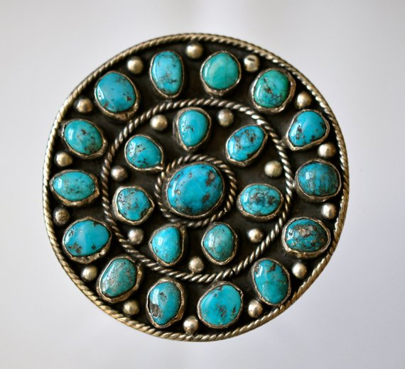 Native%20American%20Silver%20Turquoise%20Cluster%20Pendant%20Brooch%20Signed%20by%20Marcelina%20Valencia%20San%20Felipe%20Pueblo%20New%20Mexico%202